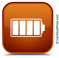 Battery icon special brown square button