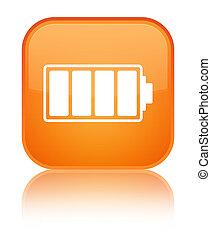 Battery icon special orange square button