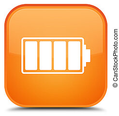 Battery icon special orange square button