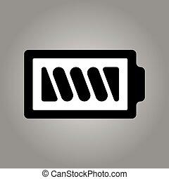 Battery icon - vector, flat design. Eps 10
