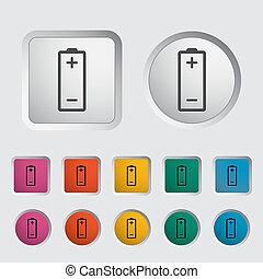 Battery icon. Vector illustration EPS.