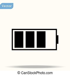 Battery icon Vector Illustration on the white background.