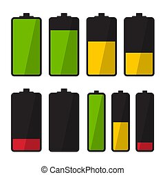 Battery Icon. Vector Simple Energy Symbol.