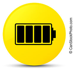 Battery icon yellow round button