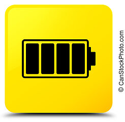 Battery icon yellow square button