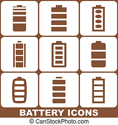 Battery Icons Set