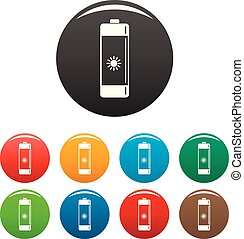 Battery icons set color