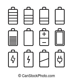 Battery icons set in ios7 style