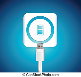 battery illustration design