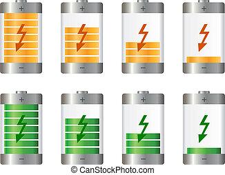 Battery illustration. Concept-battery life