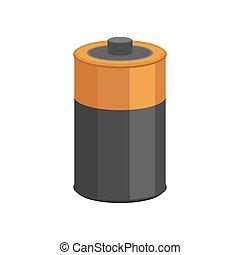 Battery isolated. Accumulator Cartoon Style. Vector illustration