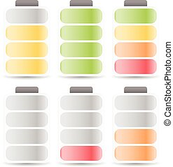 Battery Level Indicator Set Color Coded      Battery Level Indicator Set Color Coded