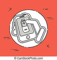 Battery level smartphone