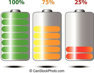 Battery life vector illustration.
