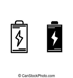 Battery line and glyph icon. Energy vector illustration isolated on white. Accumulator outline style design, designed for web and app. Eps 10.