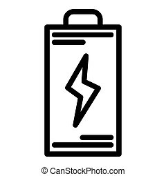 Battery line icon. Energy vector illustration isolated on white. Accumulator outline style design, designed for web and app. Eps 10.