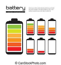 Battery load illustration isolated on white background, ...