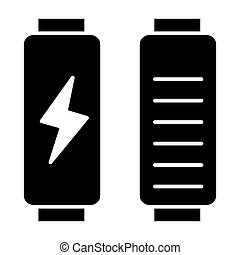 Battery load solid icon. Full charge vector illustration isolated on white. Energy glyph style design, designed for web and app. Eps 10.