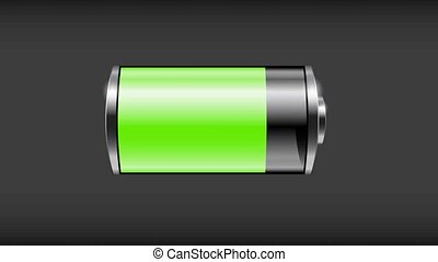 Battery Low and Charging. Looping animation