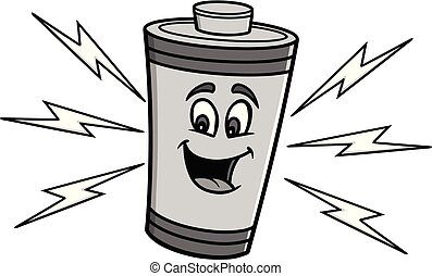 Battery Mascot Illustration