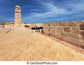 Battery No 2 of Fort Saint Angelo in Malta - Northeastern...
