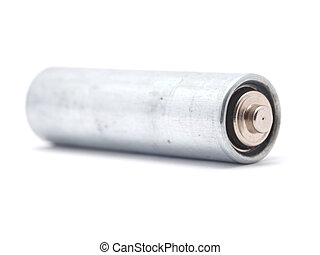 battery on a white background
