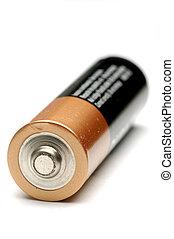 Battery over white