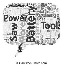 Battery Powered Tools How to Get the Most From Them text background wordcloud concept