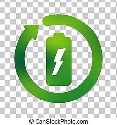 Battery recycle or recharge vectoricon