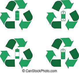 Battery recycling logo