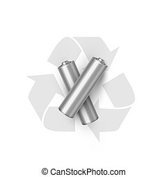 Battery recycling realistic vector illustration. Electricity...