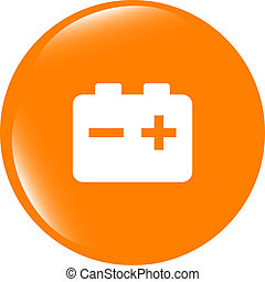 battery round web glossy icon button