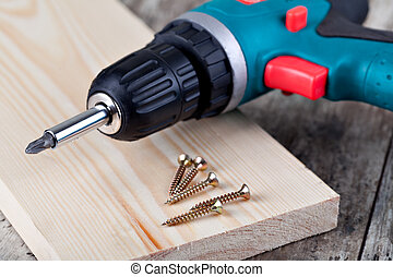 screwdriver and screw - Battery screwdriver and screw