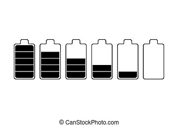 Battery set vector icon