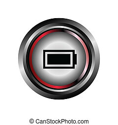 Battery sign button glossy web icon