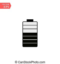 Battery solid icon. Energy illustration isolated on white. Accumulator glyph style design, designed for web and app.