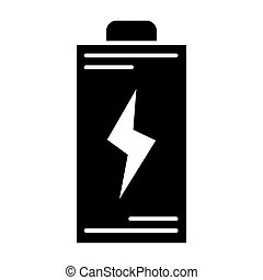 Battery solid icon. Energy vector illustration isolated on white. Accumulator glyph style design, designed for web and app. Eps 10.