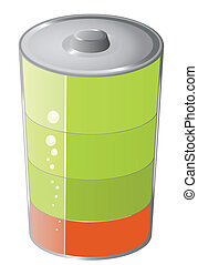 Battery symbol icon, vector