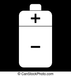 Battery  the white color icon .