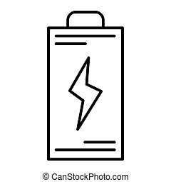 Battery thin line icon. Energy vector illustration isolated on white. Accumulator outline style design, designed for web and app. Eps 10.