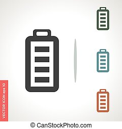 battery vector icon isolated on white background