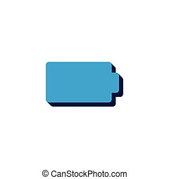 battery vector icon isometric. 3d sign isolated on white background.