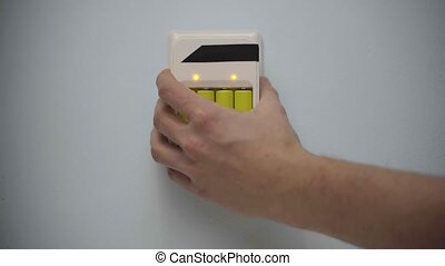 Battery wall charger with batteries disconnected of wall...