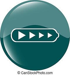 Battery web icon button