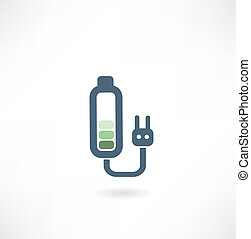 battery with a plug from the outlet icon