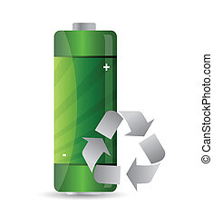 battery with recycle sign