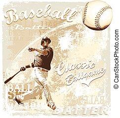 batting baseball - baseball sport vector for T-shirt printed...