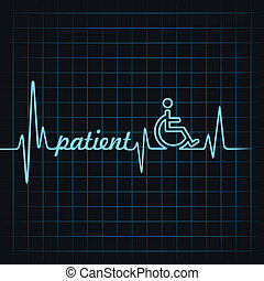 battito cardiaco, fare, parola, paziente