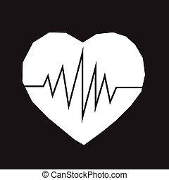 battito cardiaco, icona