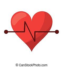 battito cuore, idoneità, simbolo